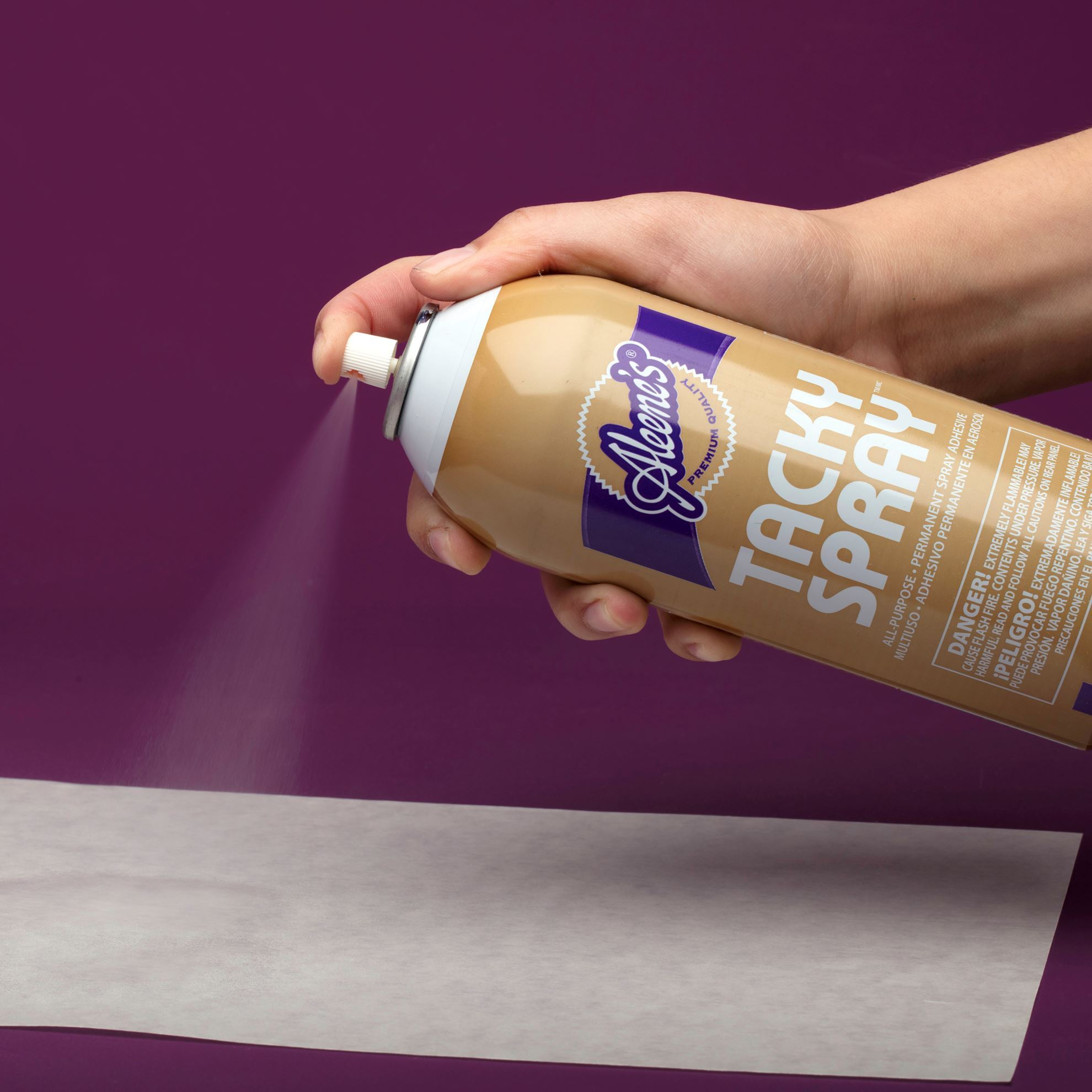 Crystal clear tacky spray - spraying