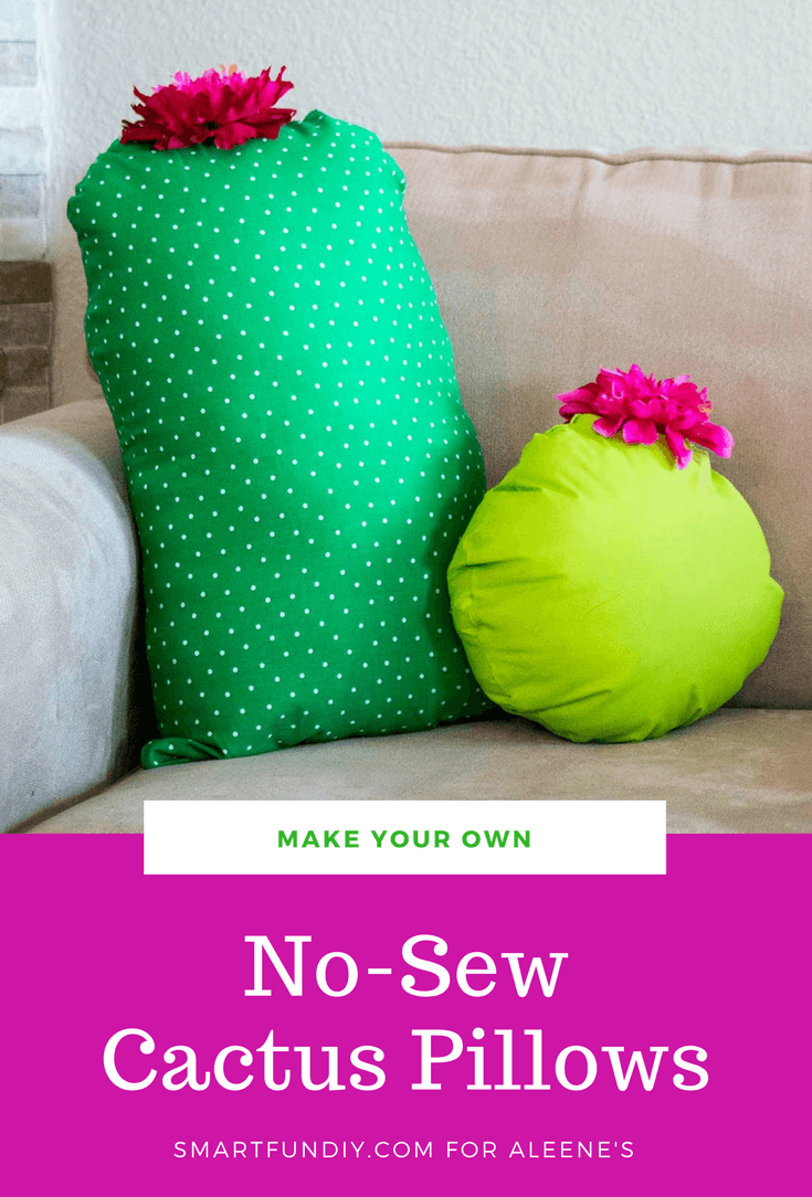 Picture of No-Sew Cactus Throw Pillow