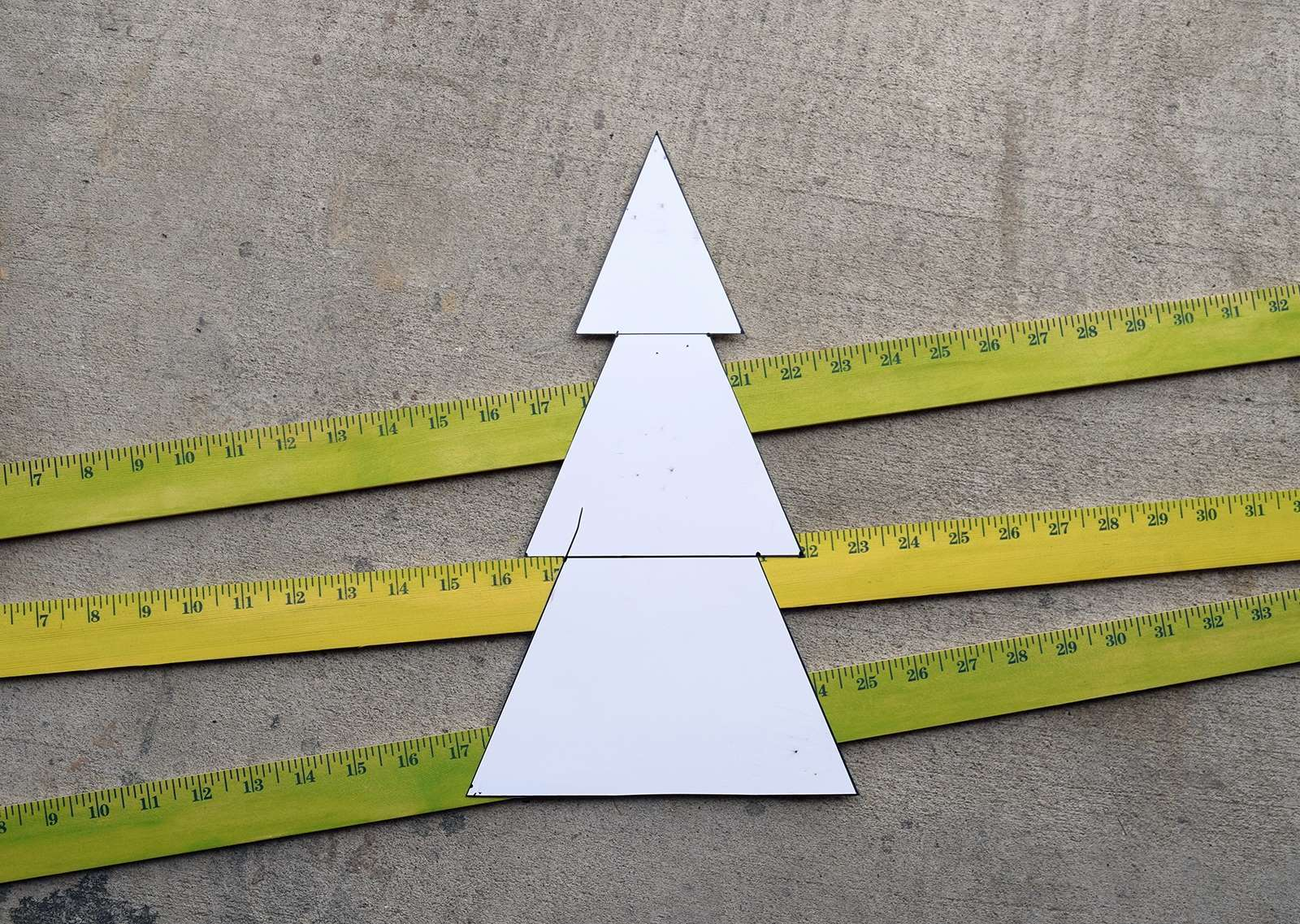Wooden Yardstick Christmas Trees Step 4