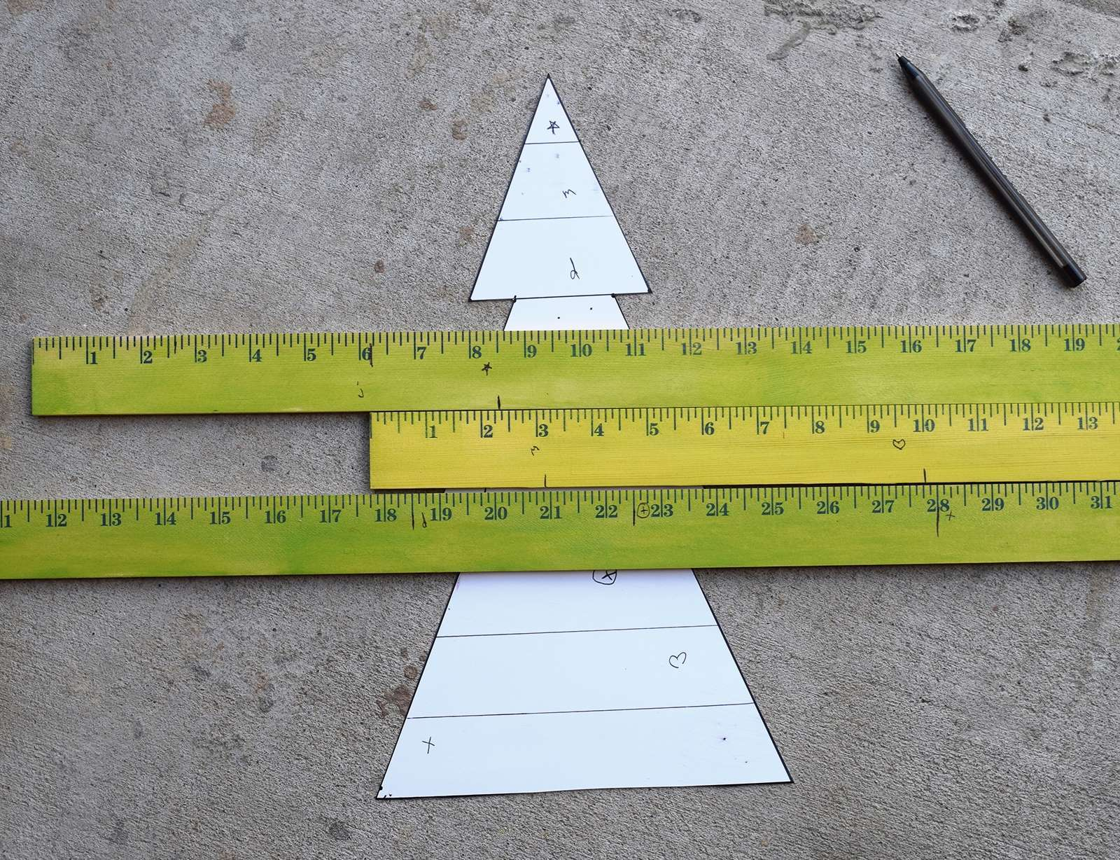 Wooden Yardstick Christmas Trees Step 5