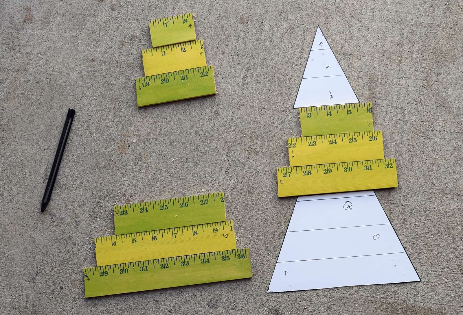 Wooden Yardstick Christmas Trees Step 6
