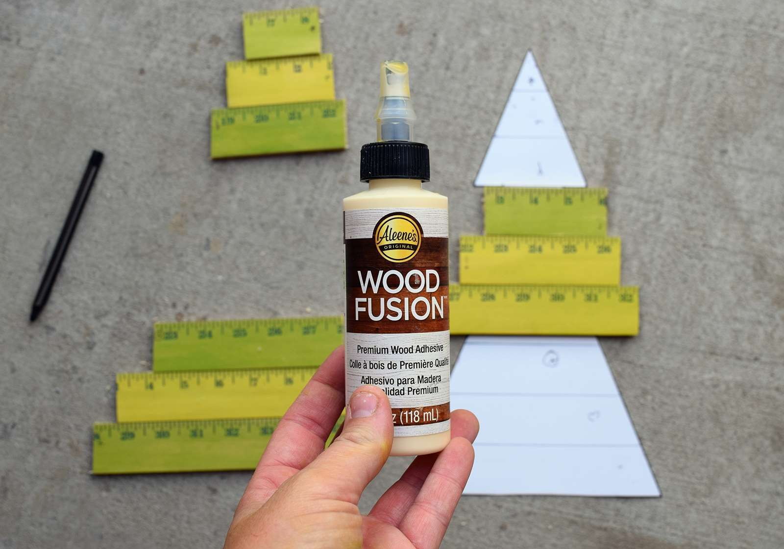 Wooden Yardstick Christmas Trees Step 7