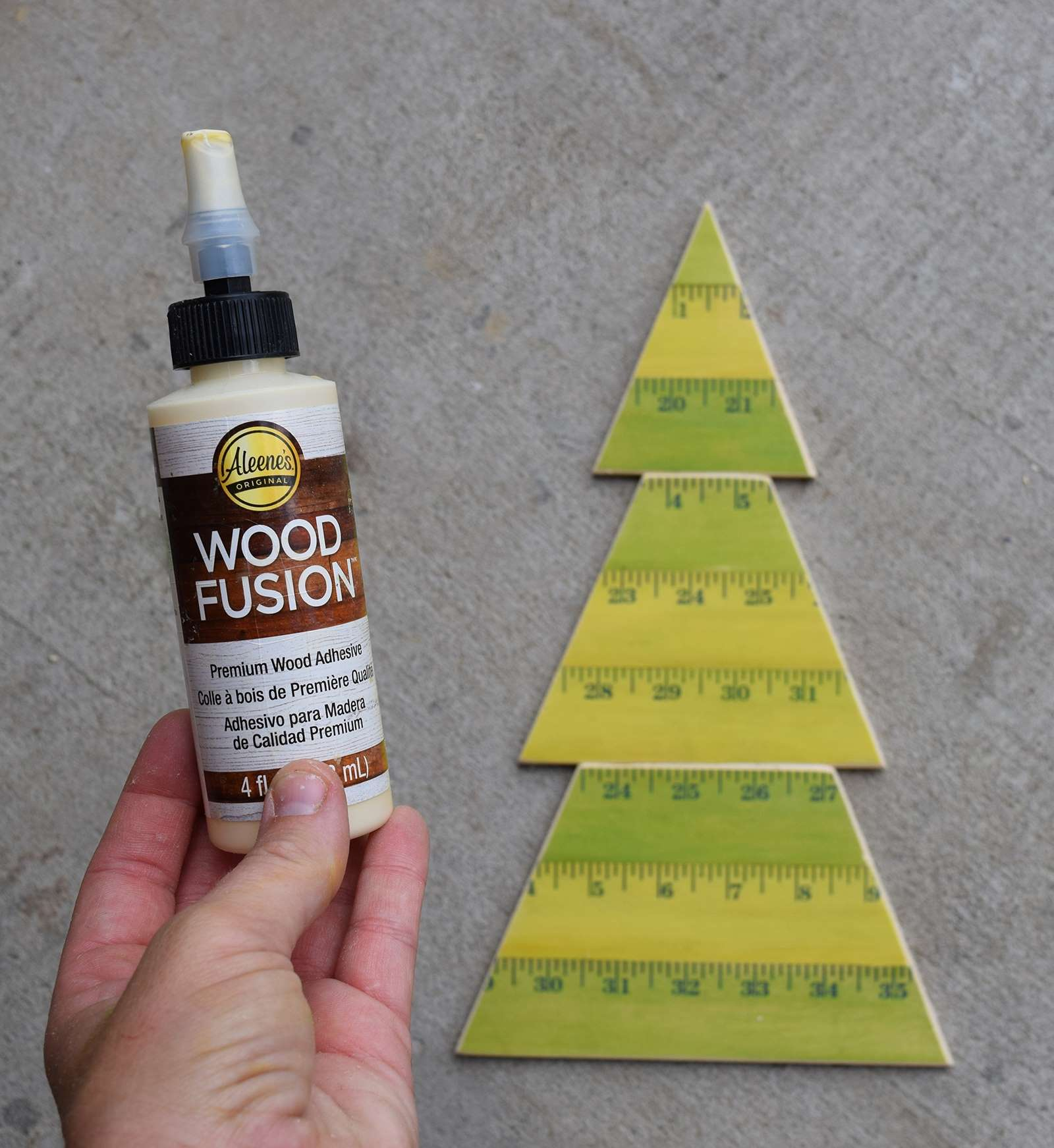Wooden Yardstick Christmas Trees Step 13