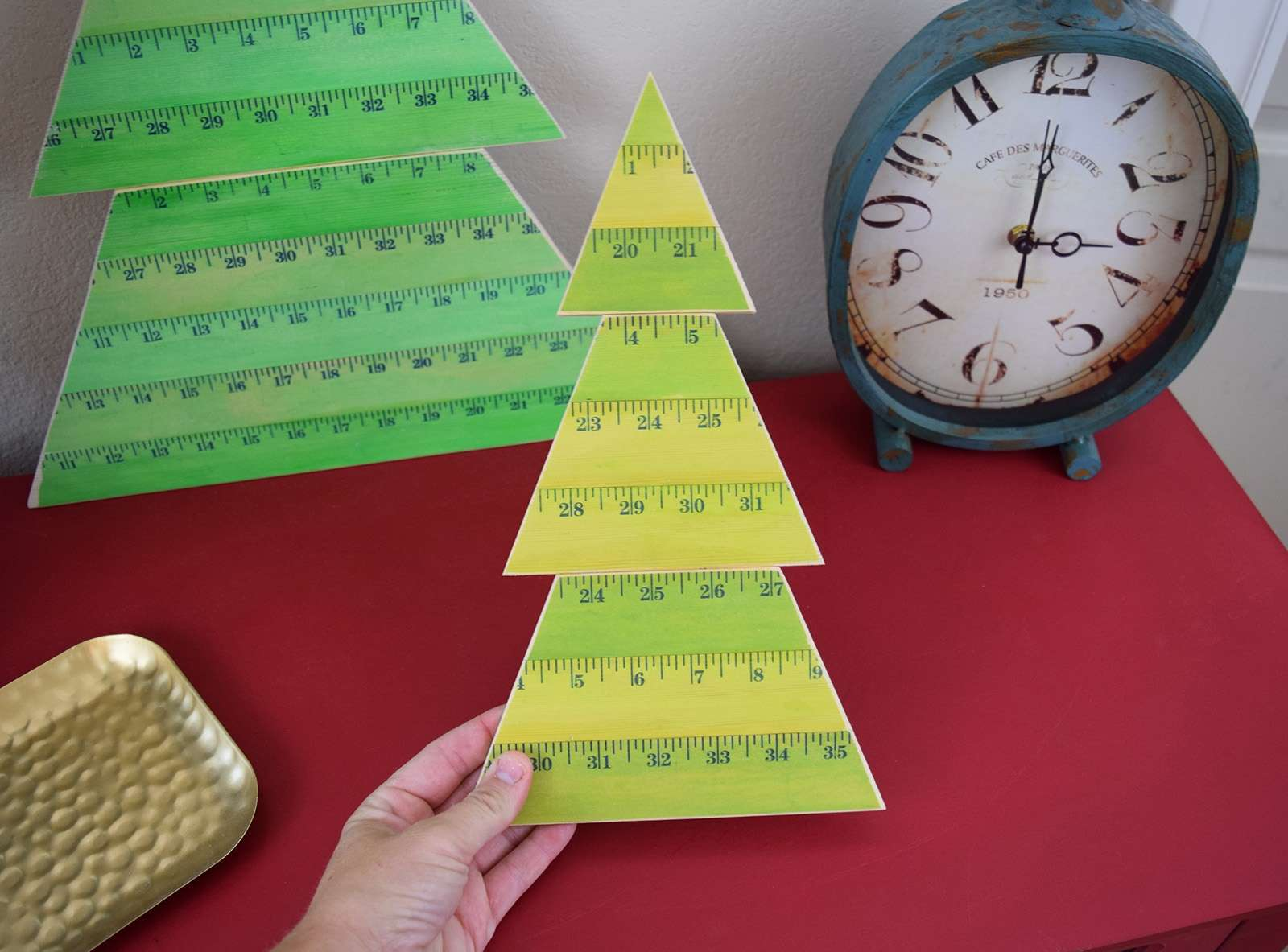 Wooden Yardstick Christmas Trees Step 14