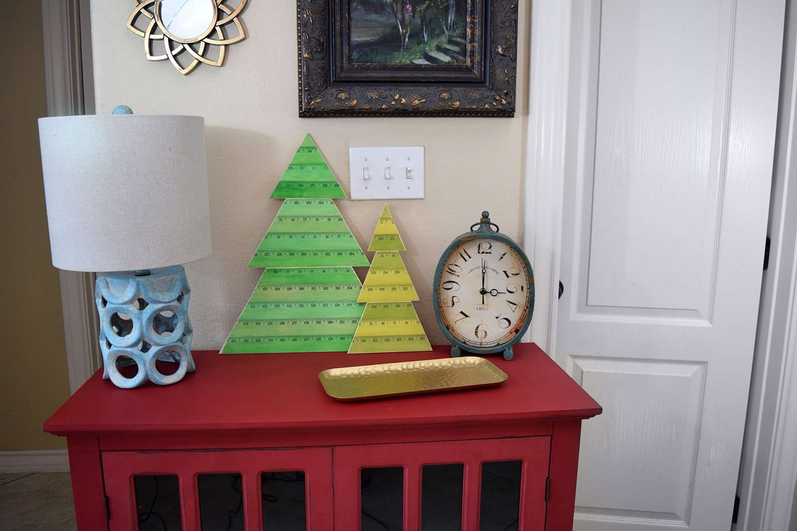 Wooden Yardstick Christmas Trees Step 15