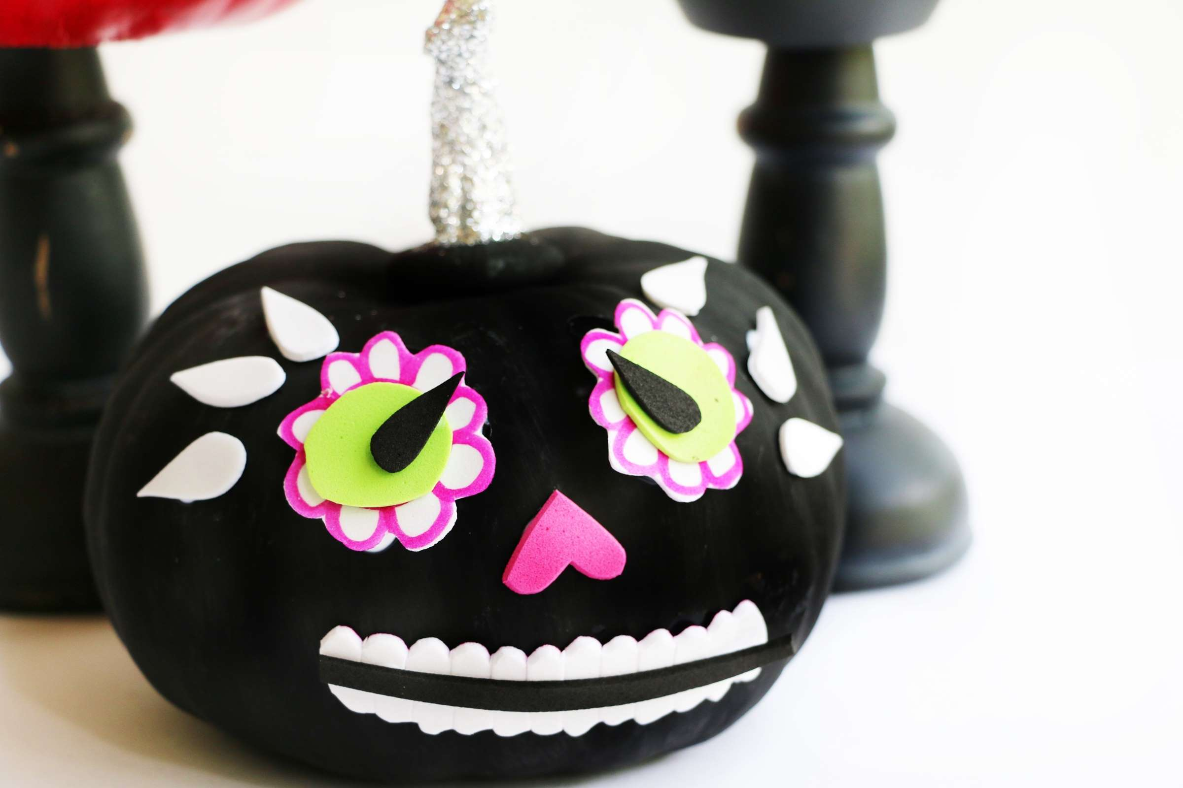 Picture of Day of the Dead Pumpkins