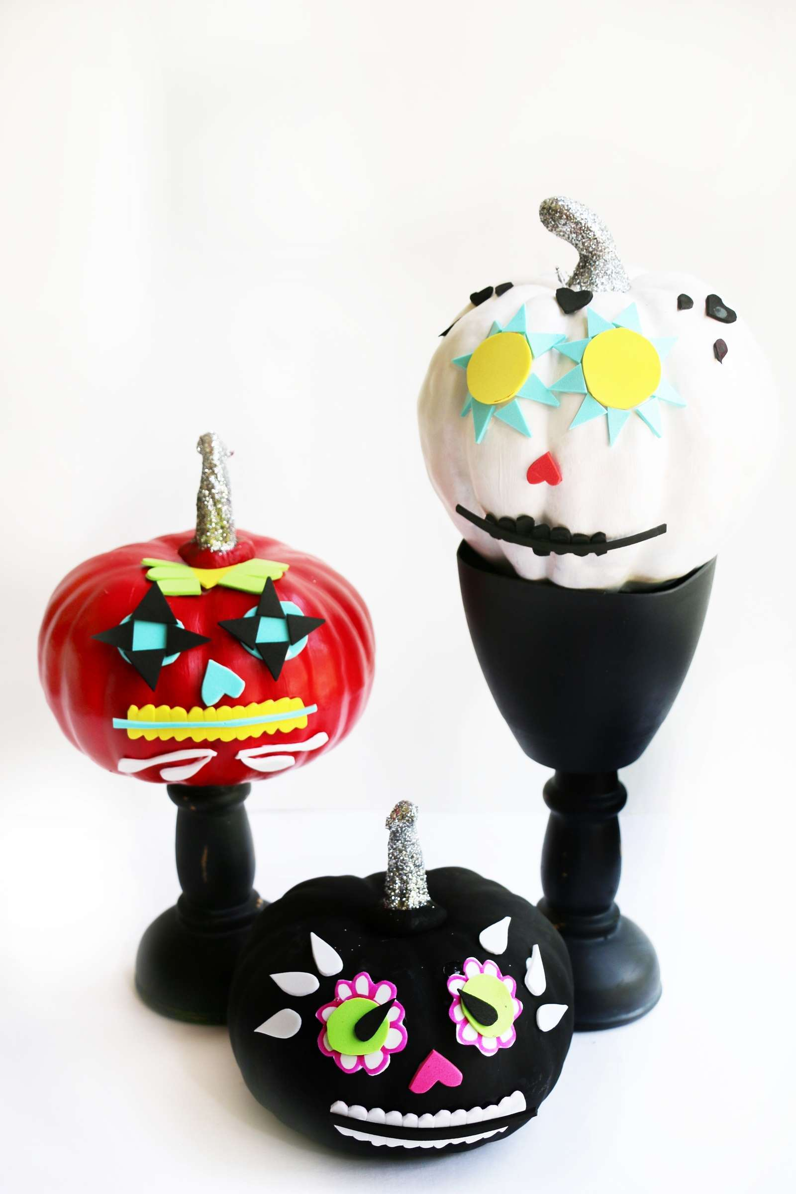 day of the dead pumpkins-