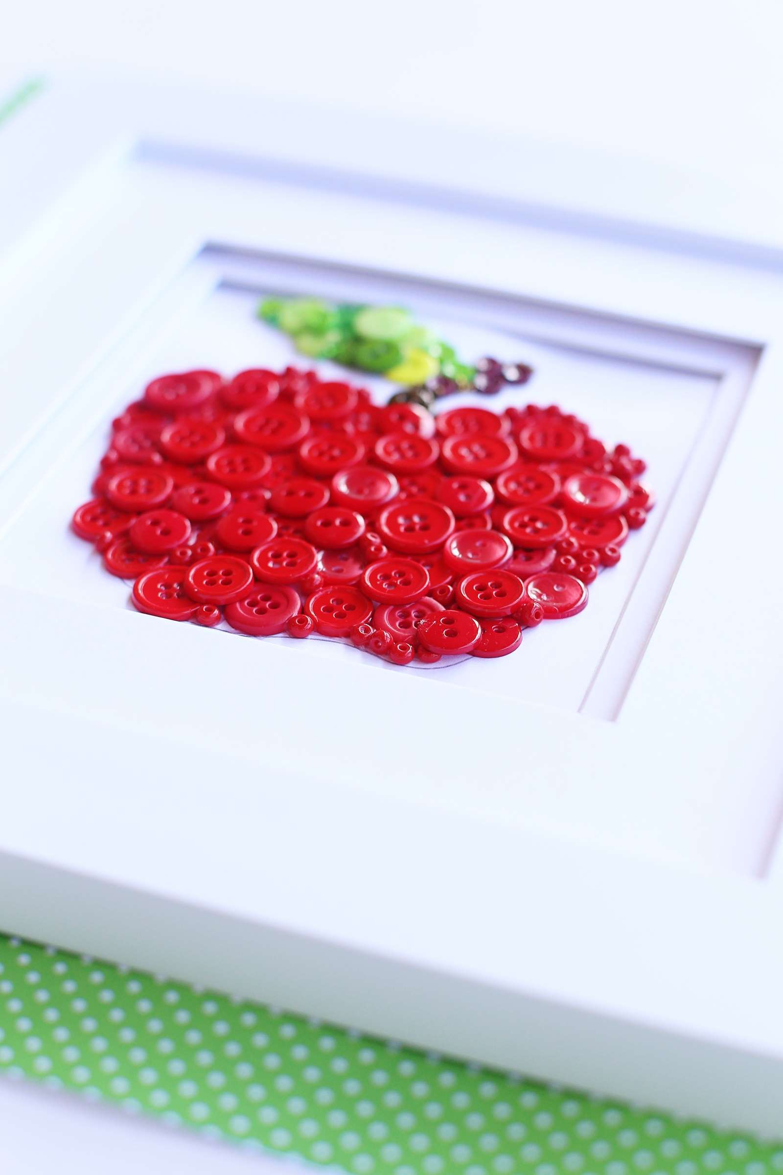 Picture of Button Art Apple