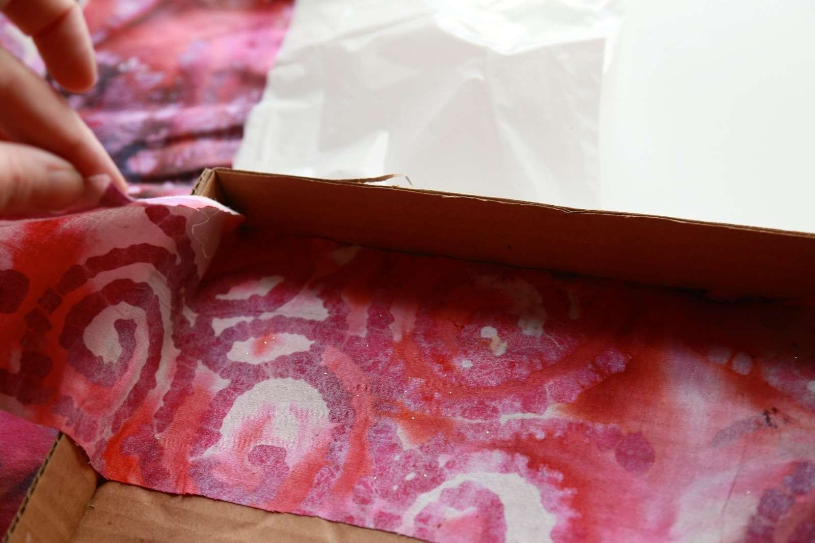 Picture of Fabric Covered Cardboard Tray