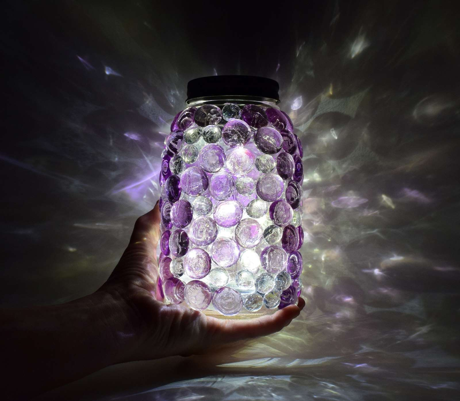 Picture of Glittering Gem Mason Jars Lights