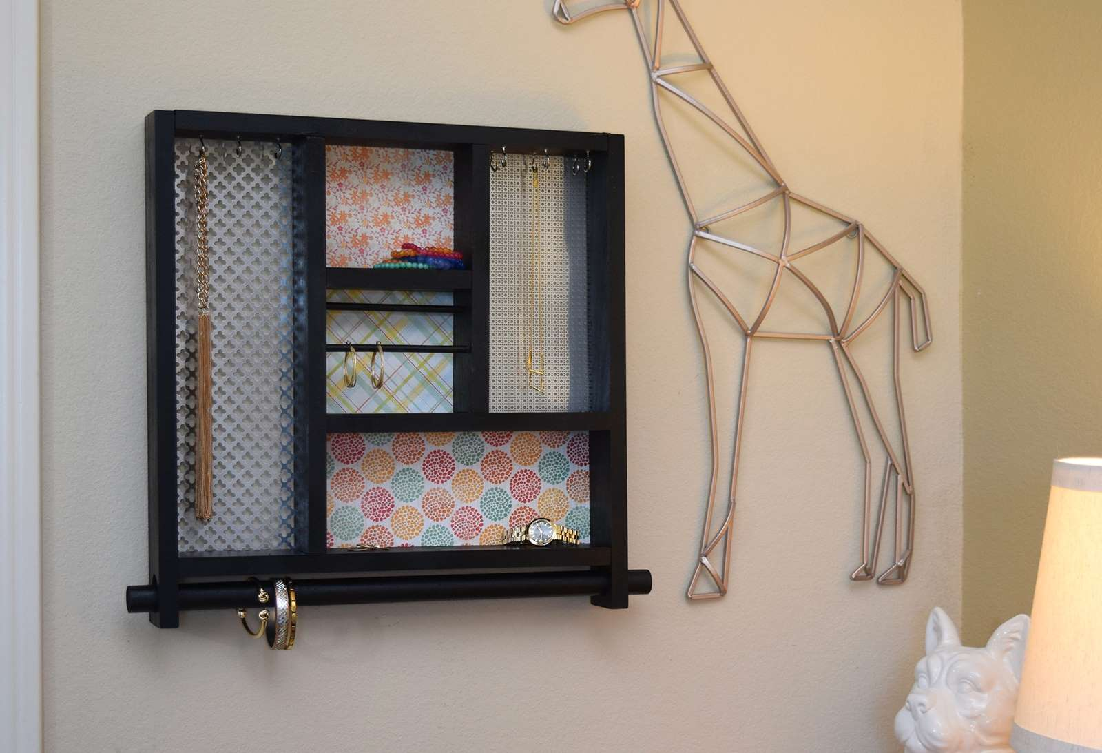 Picture of Wall Hung Wood Jewelry Organizer