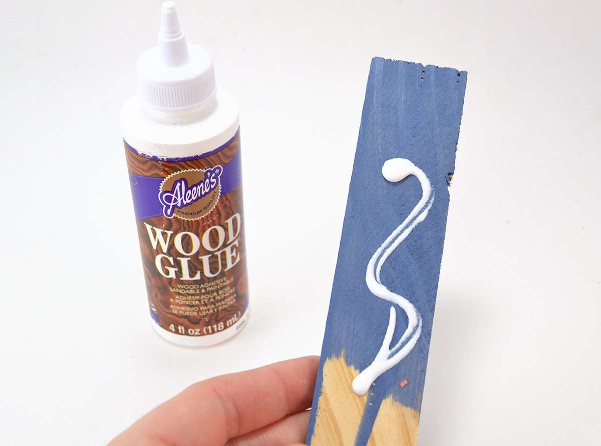 Picture of How to Glue Wood to Wood - Wooden Shim Starburst Mirror Tutorial