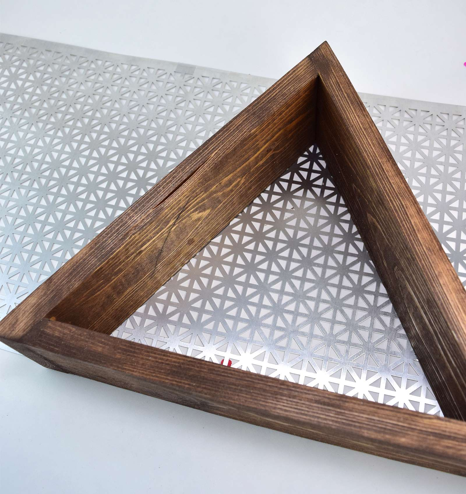 Picture of How to Glue Metal to Wood - DIY Triangle Shelves
