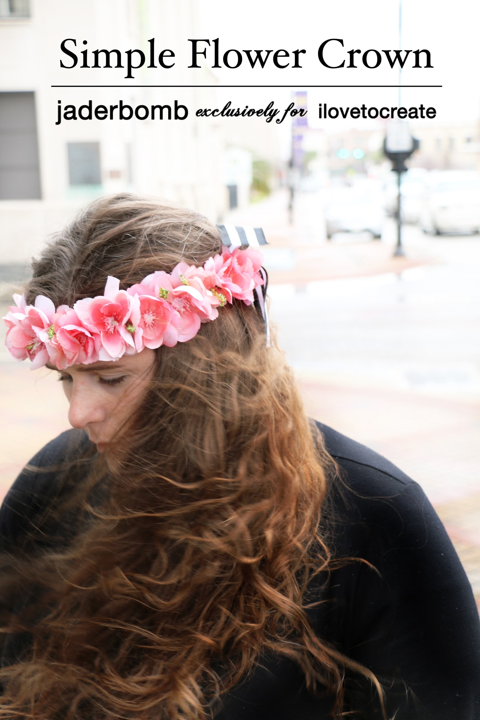 Picture of How to Glue Flowers to Ribbon for a Simple Flower Crown