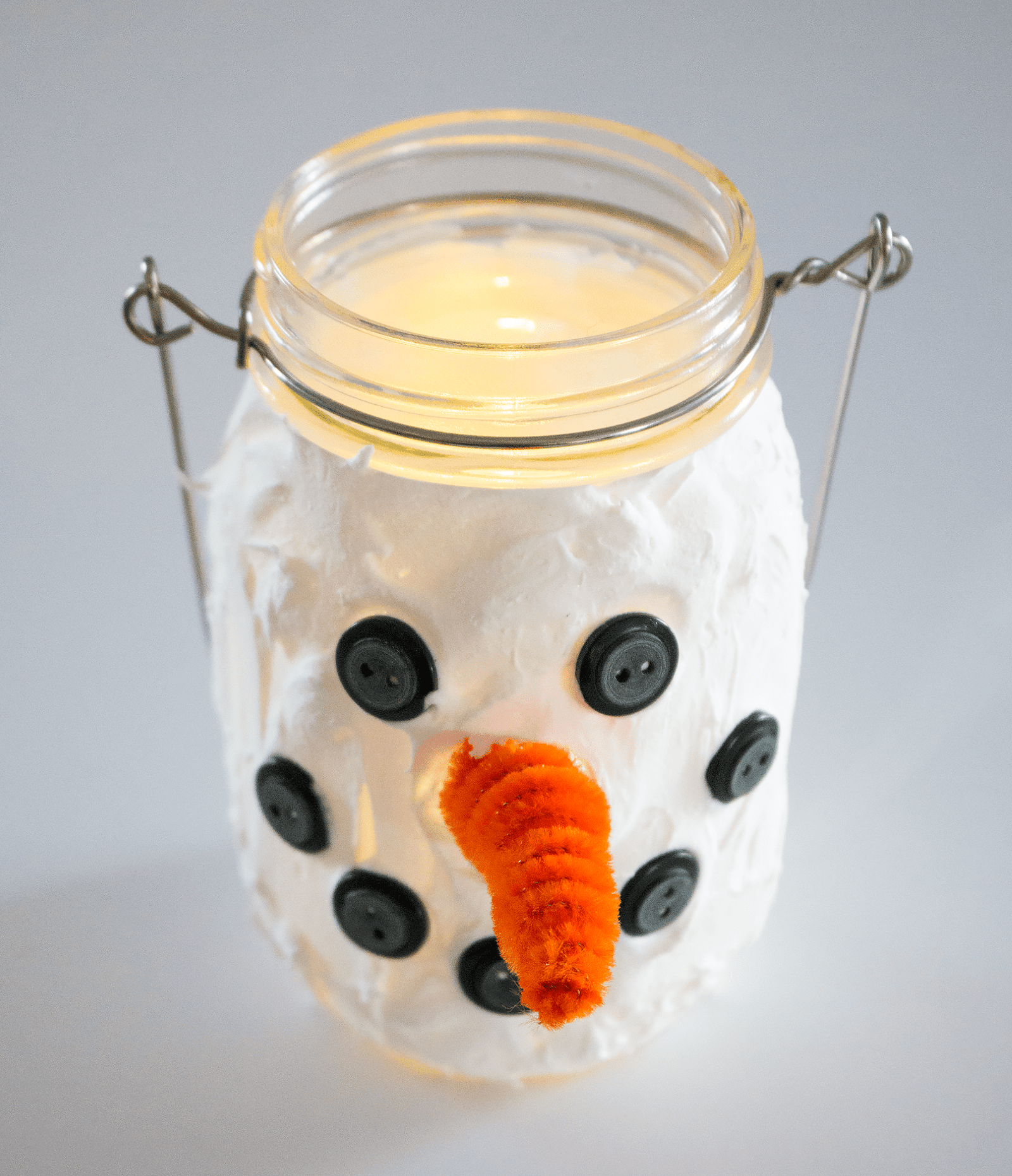 Picture of Snowman Mason Jars
