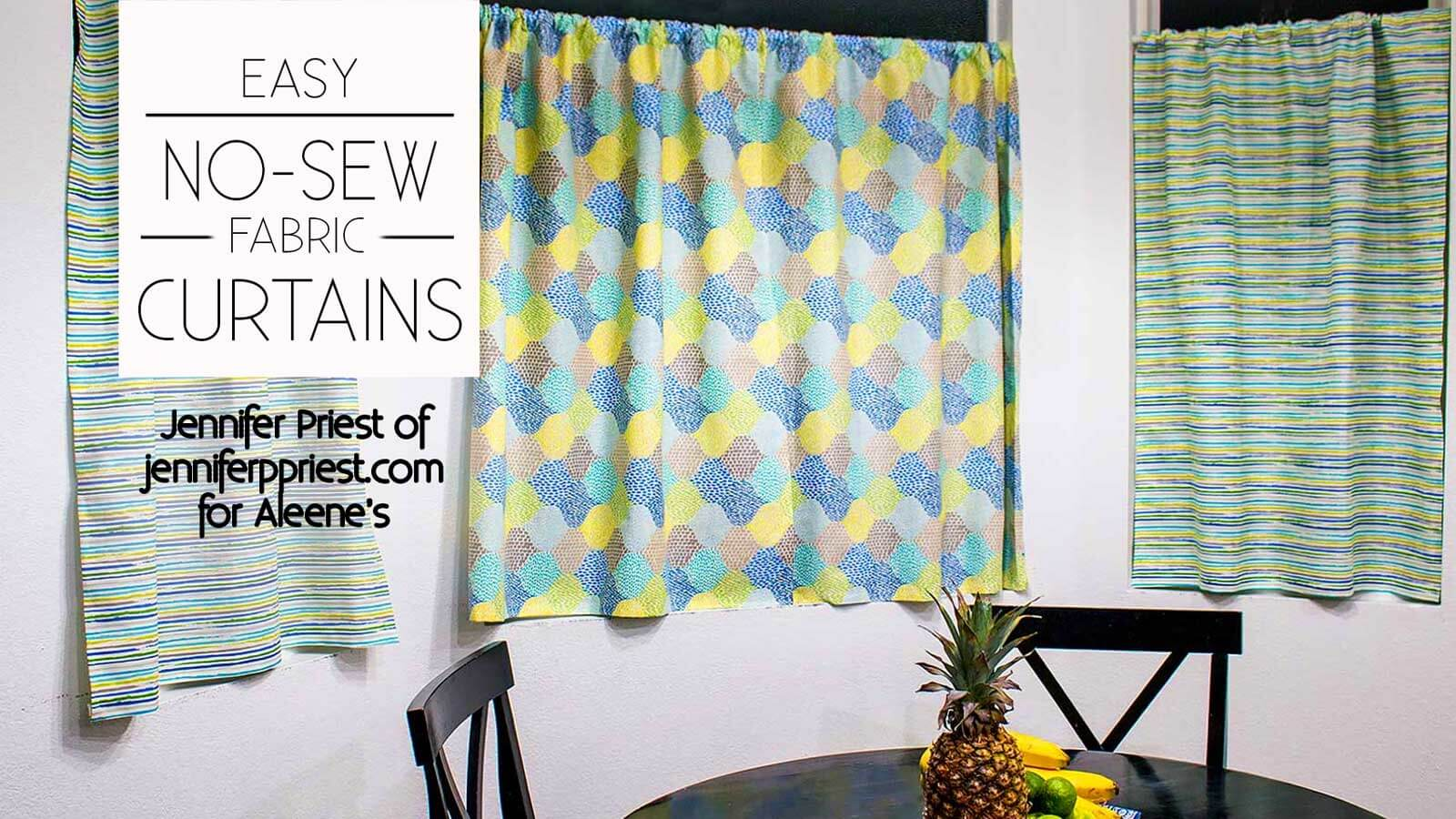 Picture of No Sew Fabric Curtains