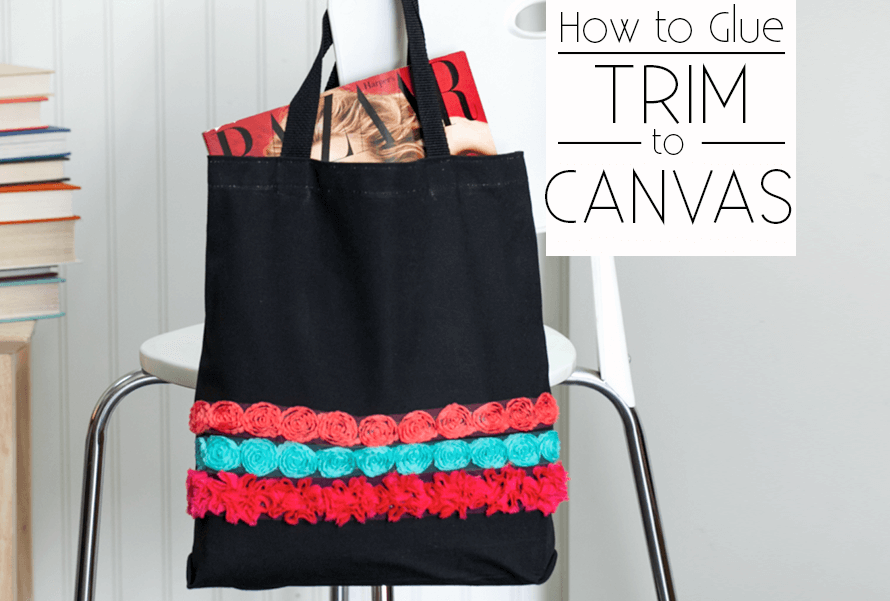 Picture of How to Glue Trim to Canvas Tote