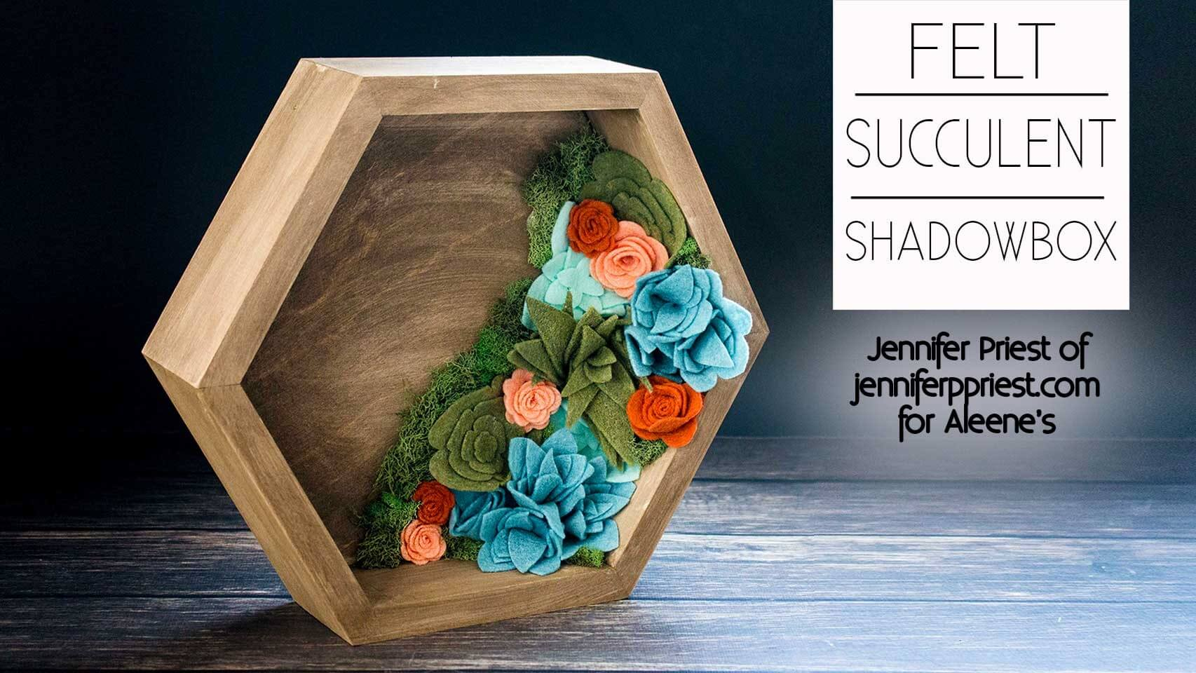 Picture of Felt Succulent Shadowbox