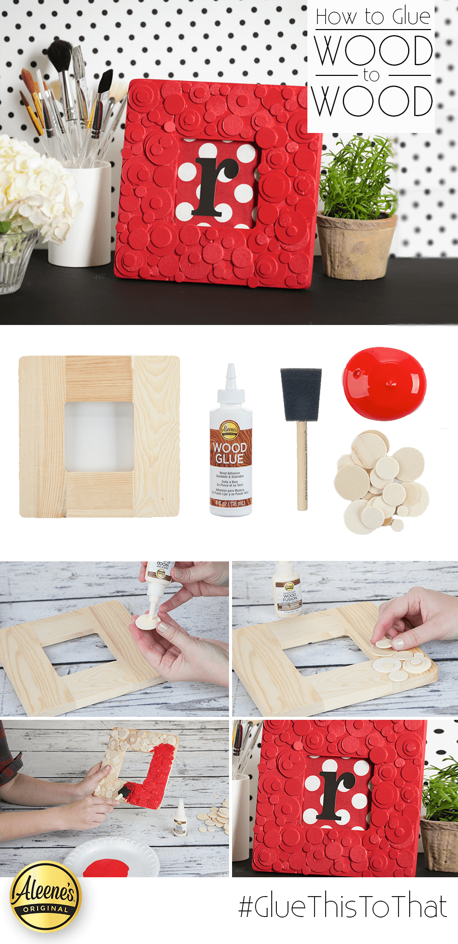 Picture of How to Glue Wood to Wood: Mod Dot Frame DIY