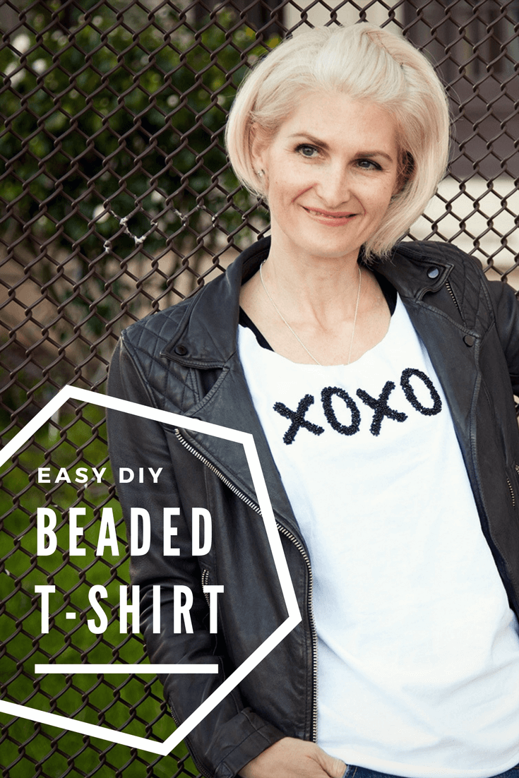 Picture of How to glue beads to a shirt; DIY Beaded Tee