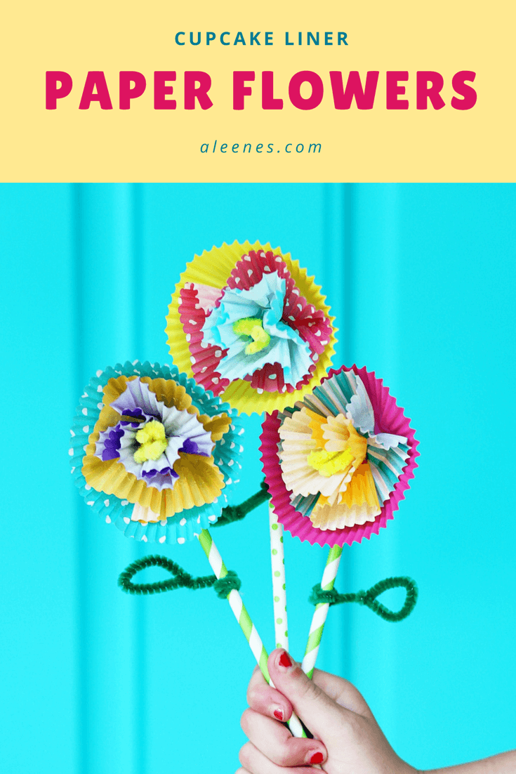 Picture of Cupcake Liner Flower Craft with School Tacky Glue