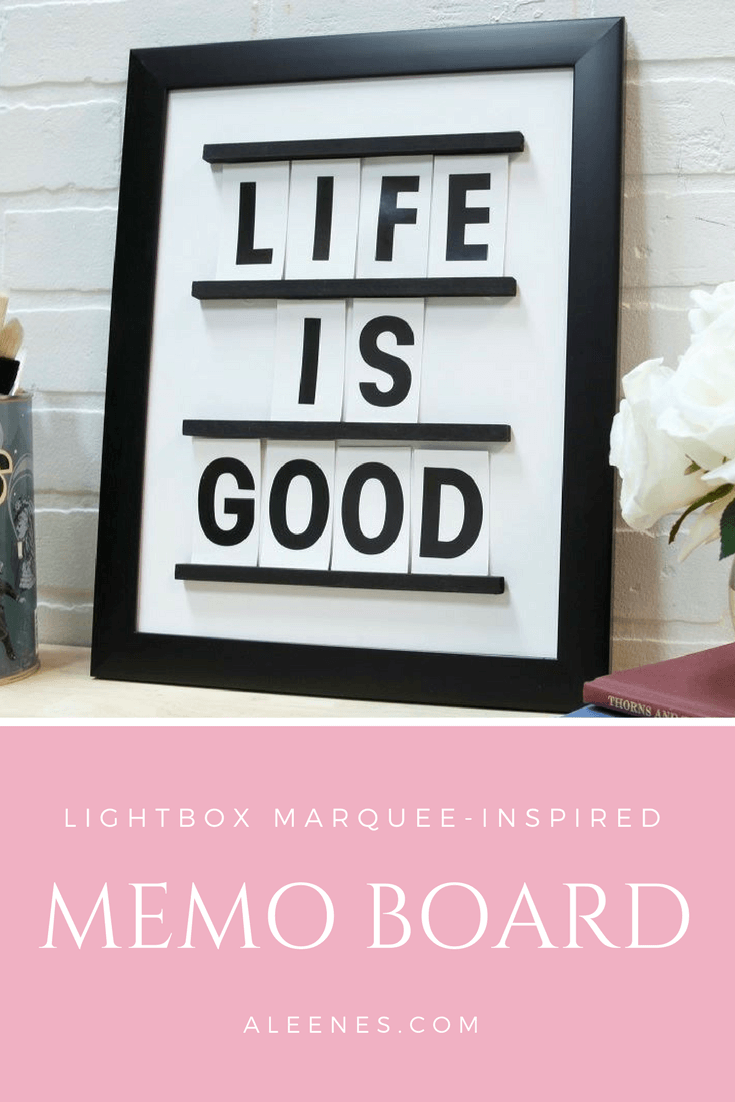 Picture of LightBox Marquee-Inspired Memo Board