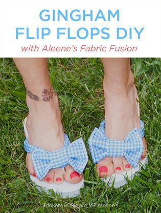 Picture of Gingham Flip Flops DIY
