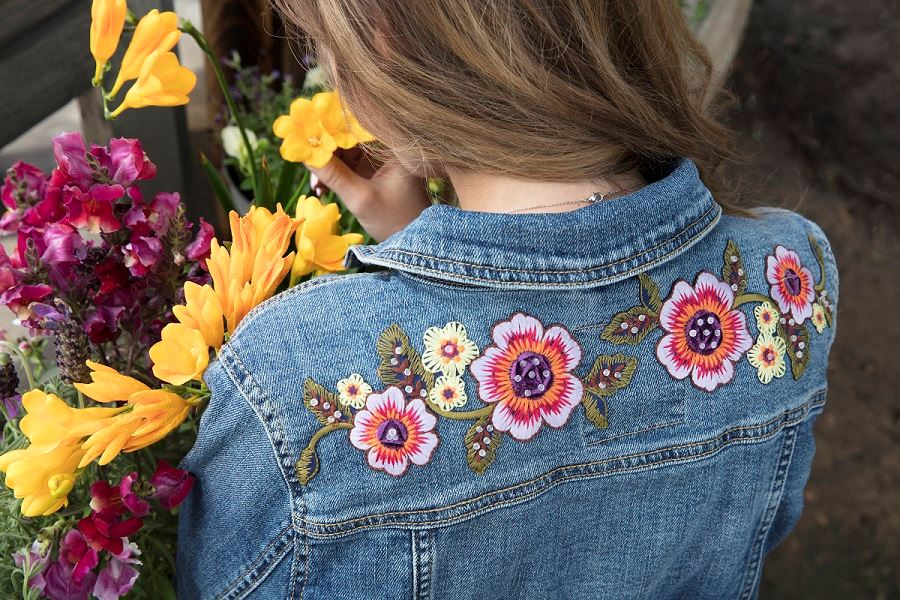 Flower Denim Jacket Step 3