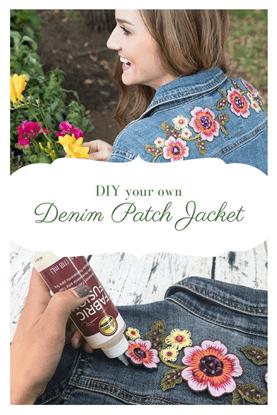 Picture of Flower Denim Jacket
