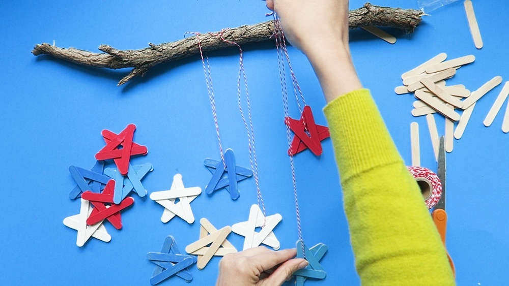Patriotic Craft Stick Stars Step 4