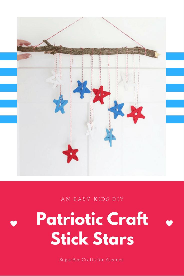 Picture of Patriotic Craft Stick Stars