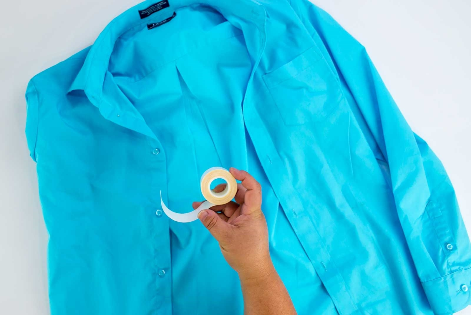 How to Fix a Shirt Gap Step 3