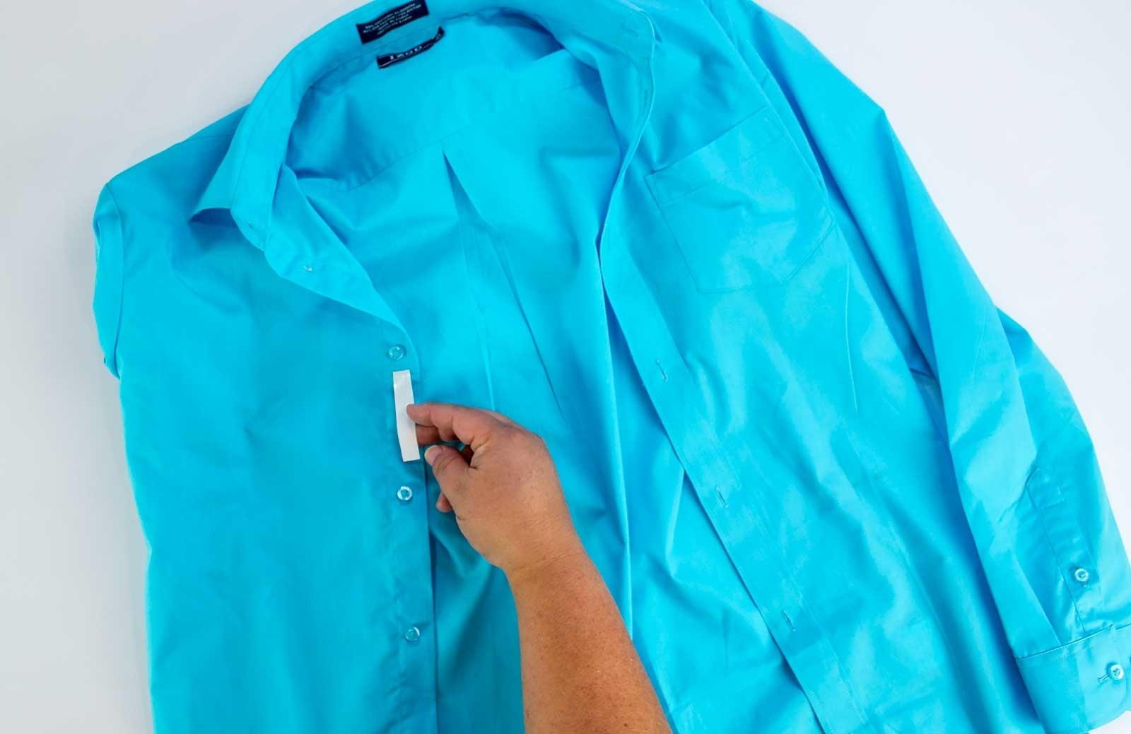 How to Fix a Shirt Gap Step 4