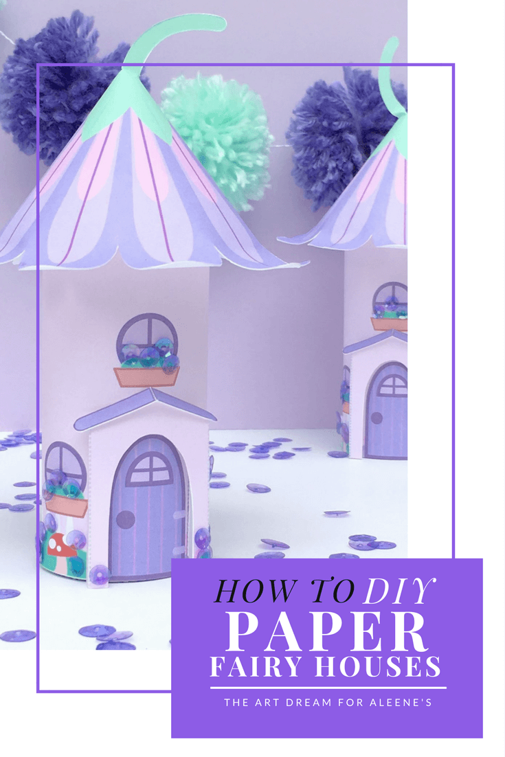 Picture of DIY Paper Lavender Field Fairy House