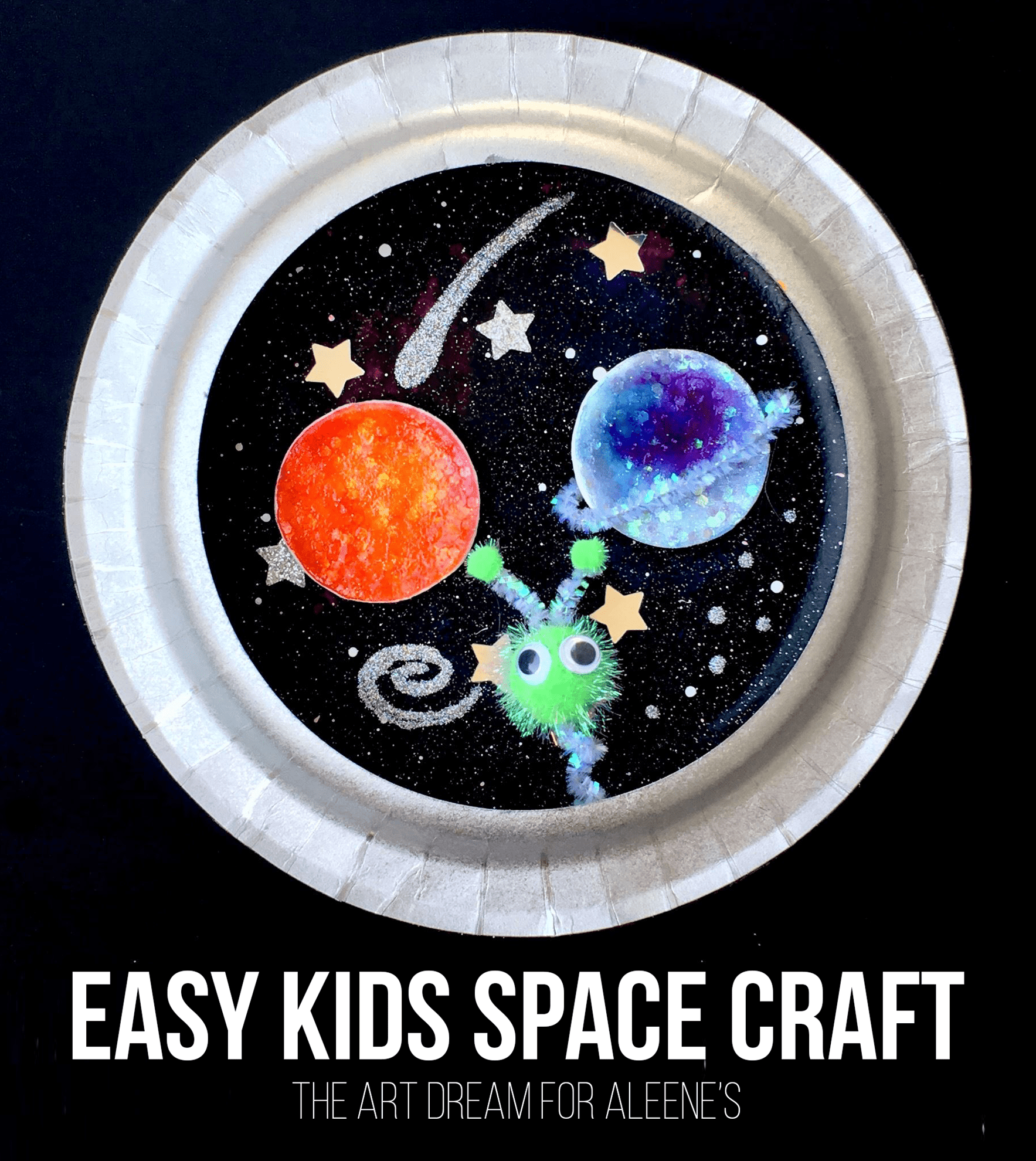 Picture of Paper Plate Space Scene
