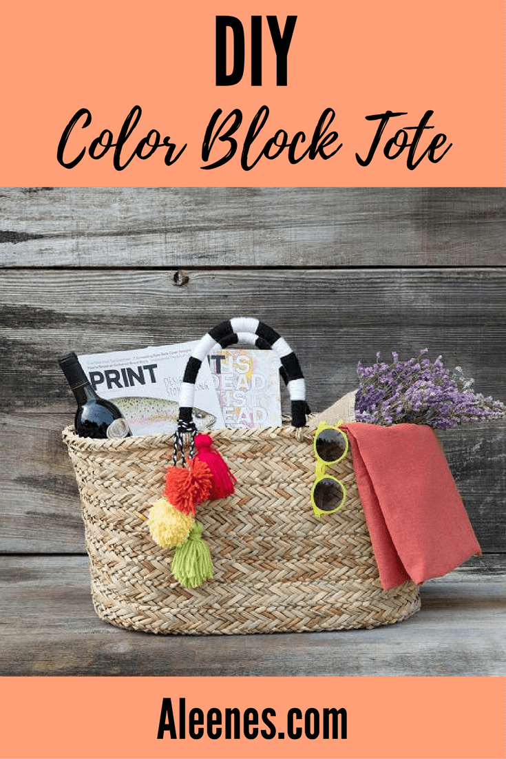 Picture of Color Block Summer Tote