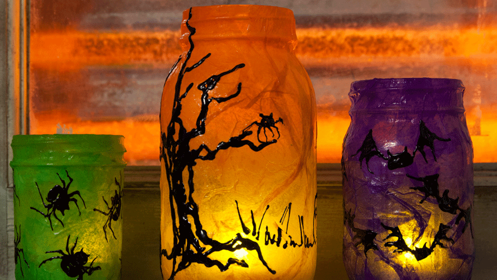 Picture of DIY Spooky Halloween Mason Jars
