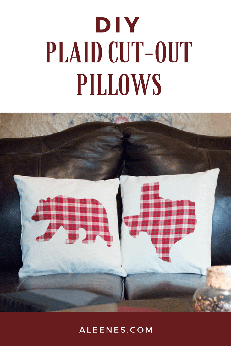 Picture of DIY Plaid Cut-Out Pillows