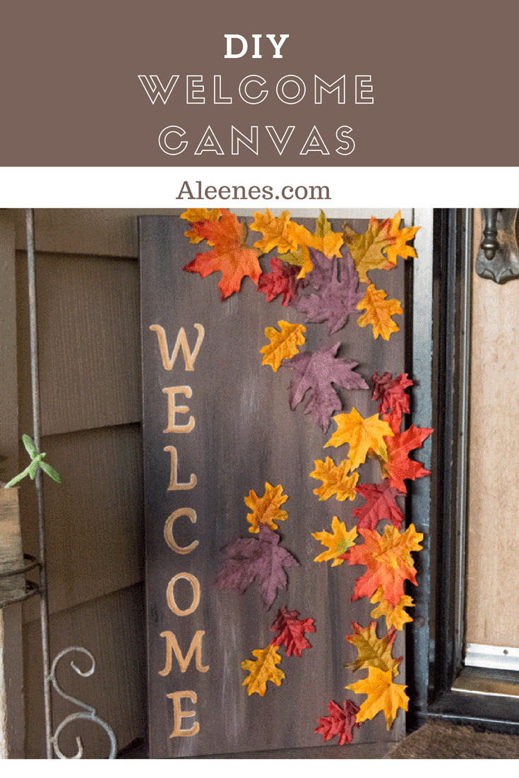 Picture of DIY Welcome Canvas