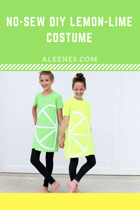 Picture of No Sew Lemon Lime Costume Idea