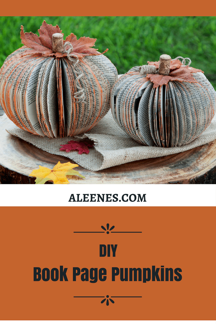 Picture of DIY Book Page Pumpkin