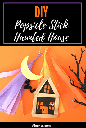 Picture of Popsicle Stick Haunted House