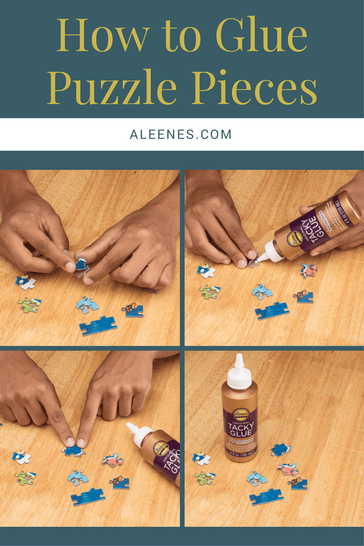 Picture of How to Glue Puzzle Pieces