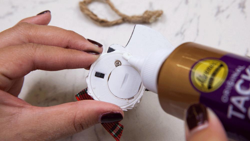 Picture of DIY Mini Snowman Light Ornaments