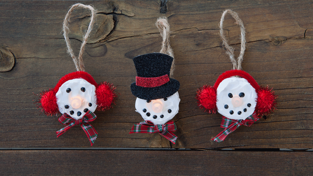 Picture of DIY Mini Snowman Light Ornaments
