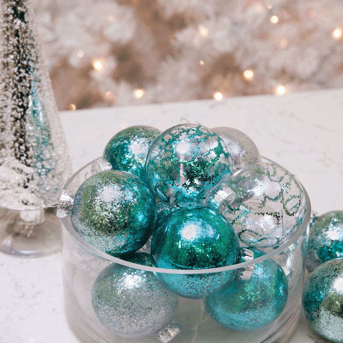 Picture of DIY Glitter Ornaments: 3 Easy Techniques