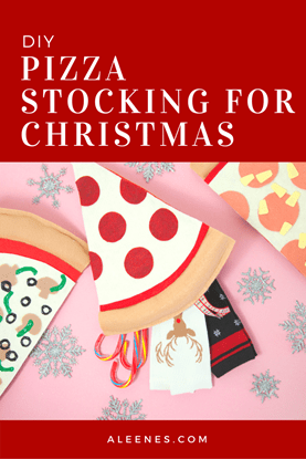Picture of DIY Pizza Stocking for Christmas