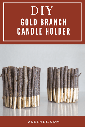 Picture of Gold Branch Candle Holder DIY
