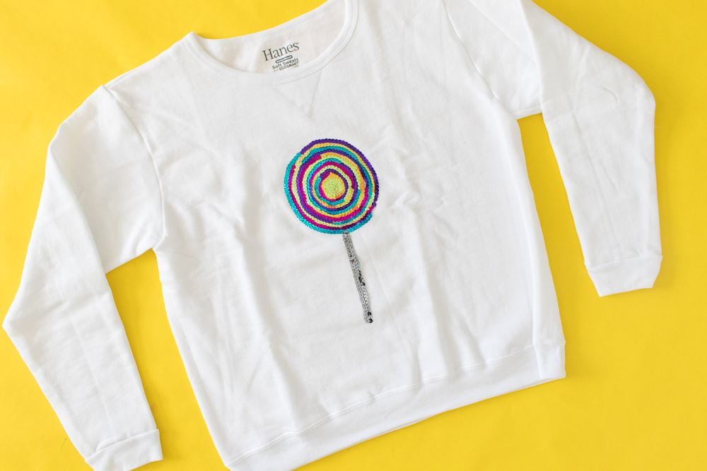 Picture of DIY Sequin Lollipop Sweatshirt