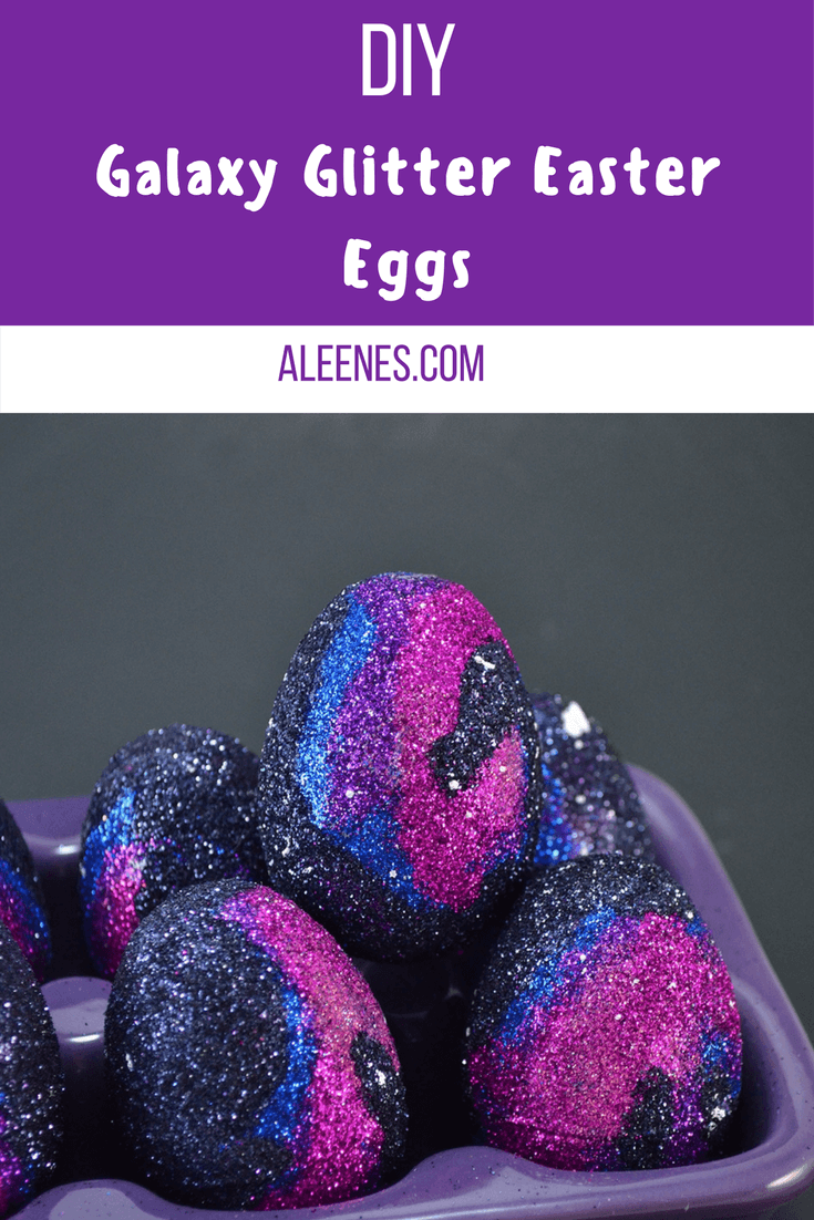 Picture of How to Glue Glitter to Plastic - Glitter Galaxy Eggs